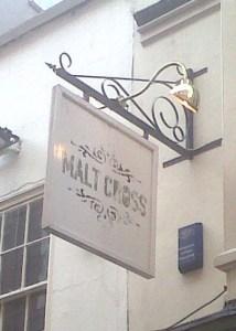 Malt Cross Sign