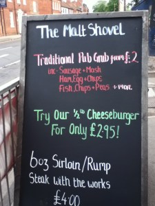 The Malt Shovel Chalkboard