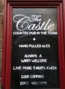 The Castle Pub Chalkboard
