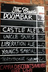 Castle Beer Chalkboard