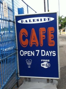 Daleside Cafe Sign