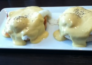 Eggs Royal at Village Cafe in Keyworth