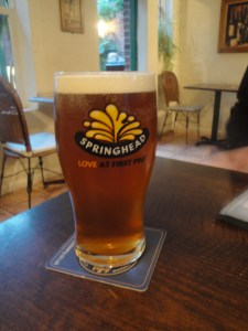 Springhead Beer at the Fade Cafe