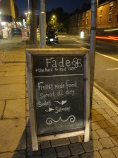 Fade Cafe and Bar Chalkboard