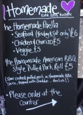 Homemade Food Menu Board