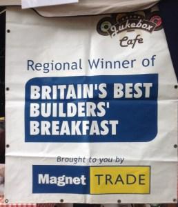 Jukebox cafe builders breakfast sign