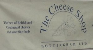 The Cheese Shop Sign