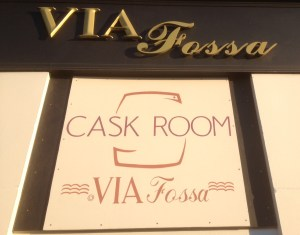 Via Fossa Sign at Front