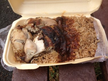 Jerk Chicken, Rice and Peas