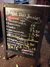 Dutch mini pancake chalk board