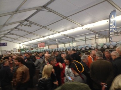 Inside top tent at beer festivak