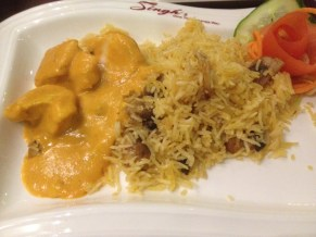 Saffron Chicken witj pulao rice