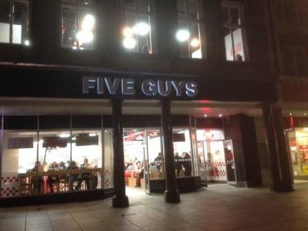 Five guys in Nottingham