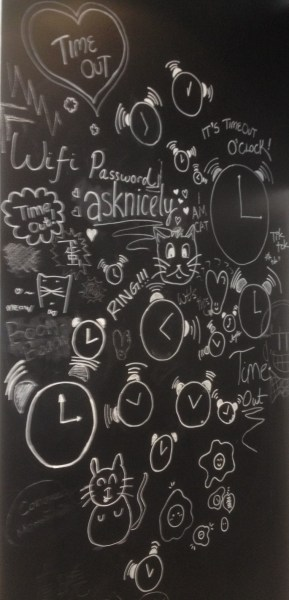 TimeOut Cafe wall