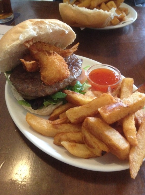 Surf and Turf burger at the Vat and Fiddle
