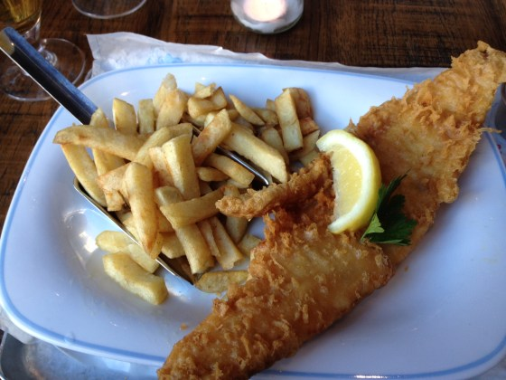 Haddock and Chips at Georges Kitchen Nottingham