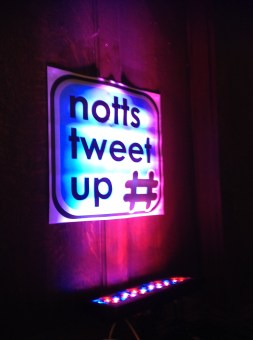 notts tweet up sign