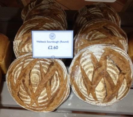 Welbeck bakery bread at the Welbeck Farm Shop