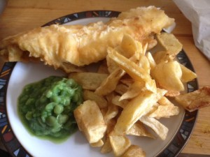 Haddock Chips and Peas from the Clifton Fish Bar