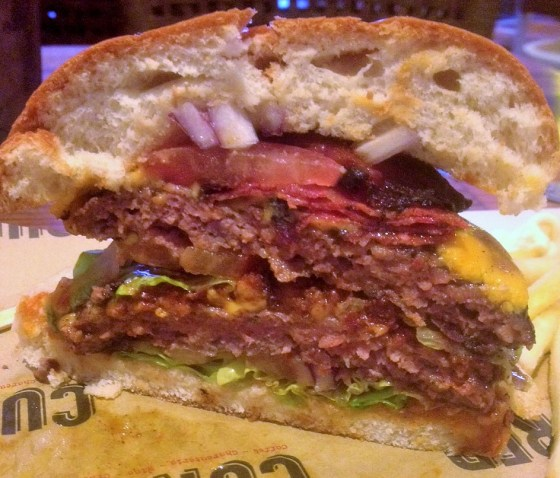 Half a Hot Foreigner Burger at Cured