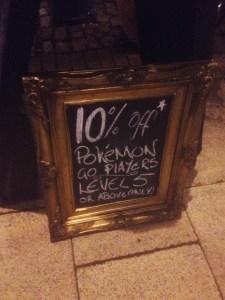 Pokemon Sign at Fothergills