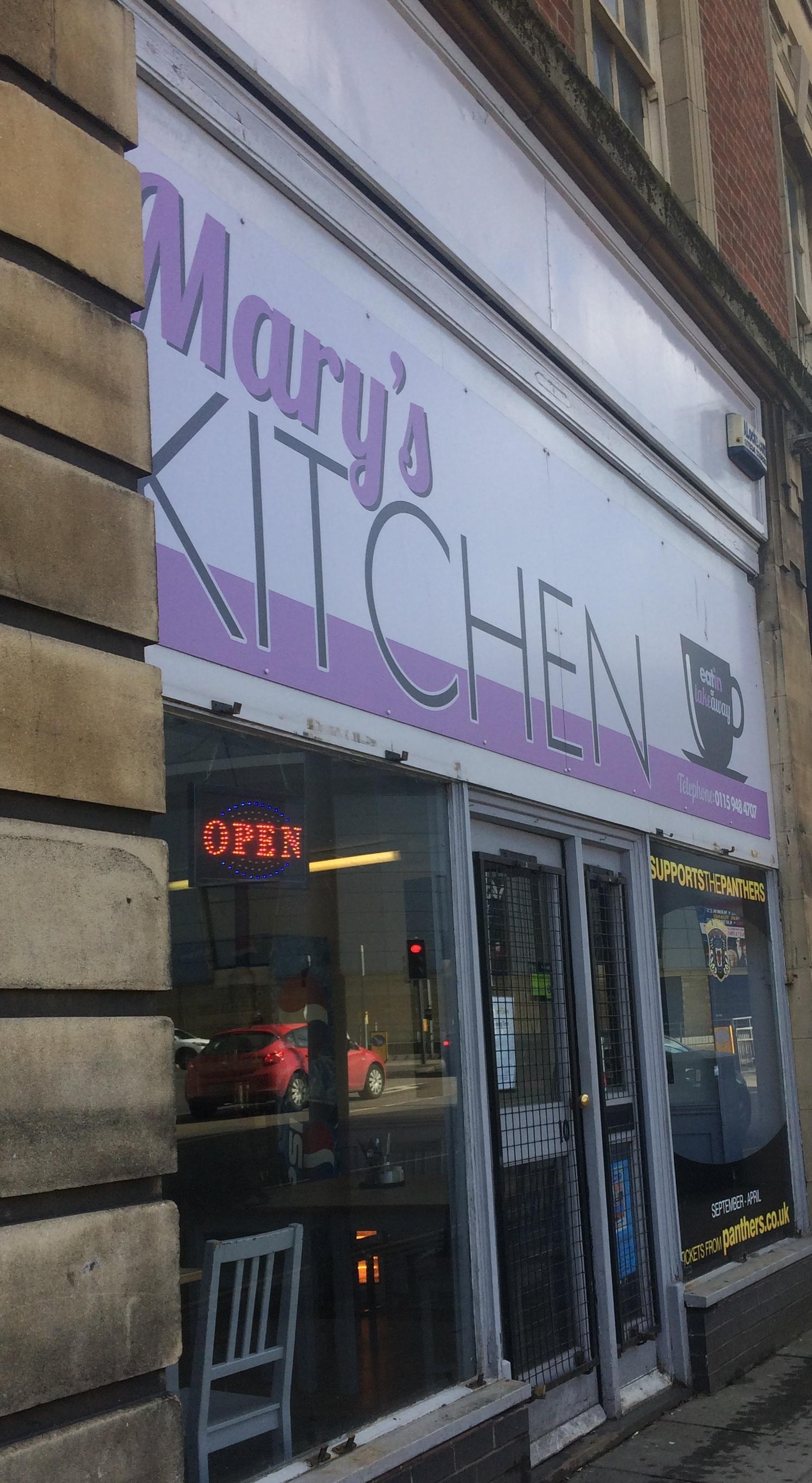 Breakfast at Mary\'s Kitchen near Sneinton Market – The Nottingham ...