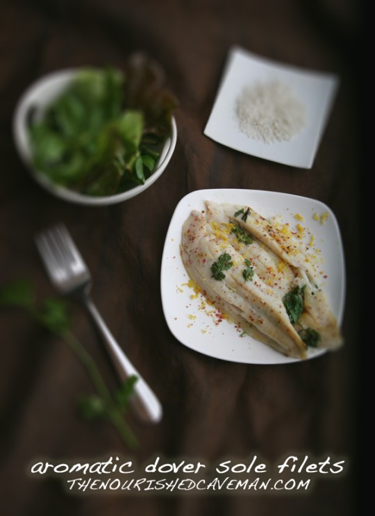Aromatic Dover Sole Filets By The Nourished Caveman