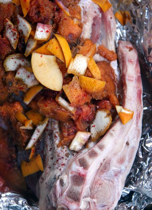 Slow roasted goat leg marinade