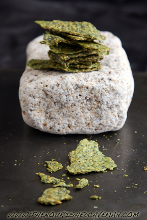 Raw Avocado and Golden Flax Crackers by The Nourished Caveman