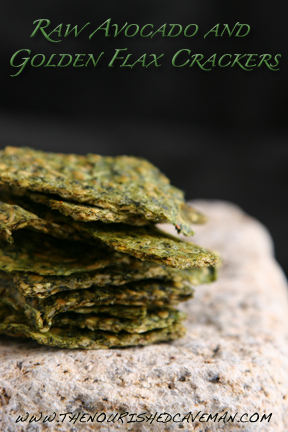 Raw Avocado and Golden Flax Crackers by The Nourished Caveman 2