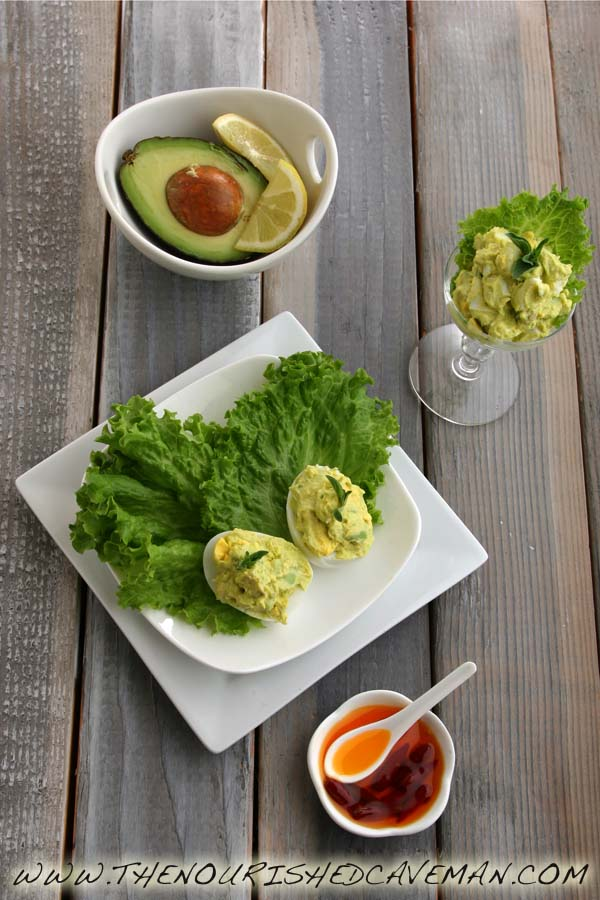 Avocado Deviled Eggs Recipe for Ketogenic Diet Week Meal Plan- Thursday day 5 | | The Nourished ...
