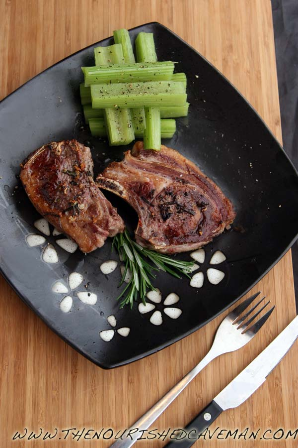 Pan Grilled Lamb Chops With Cardoons By The Nourished Caveman