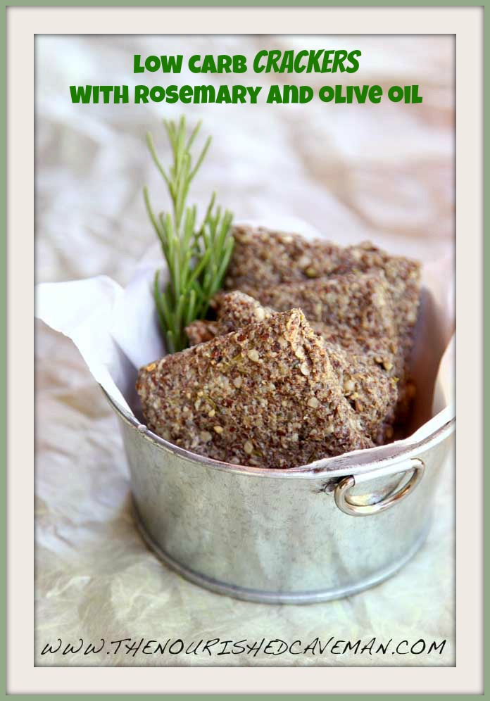 Easy Homemade Crackers With Rosemary and Oilve Oil By The Nourished Caveman 0