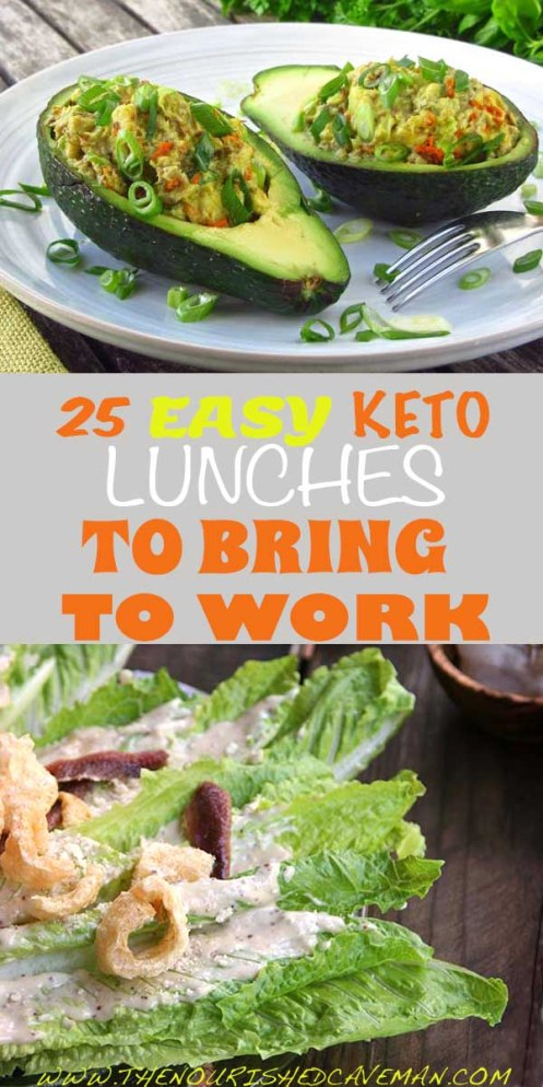 25 Easy Keto Lunches To Bring To Work By The Nourished Caveman