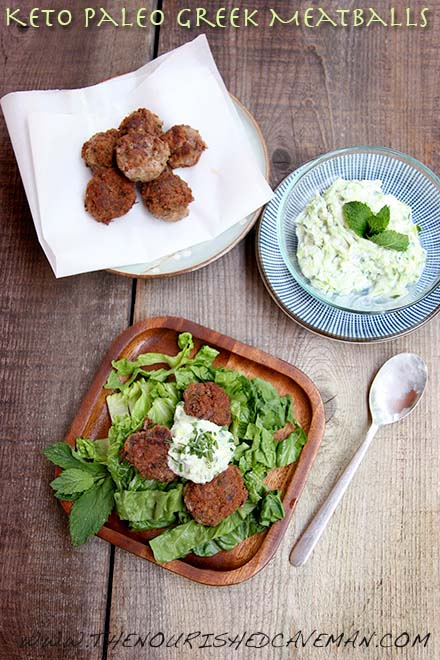 Keto Paleo Greek Meatballs By The Nourished Caveman