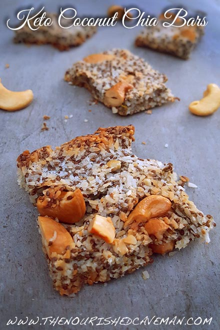 - Keto Coconut Chia Bars are a delicious snack and a great way to get more fiber! Make them in batches and take them with you everywhere!