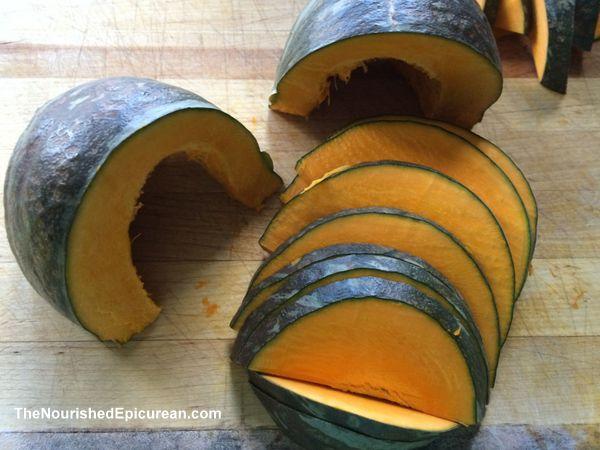 Kabocha squash, sliced