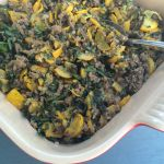 One-Pot Wonderful: Grass-fed Ground Lamb and Zucchini Braised in Coconut Milk
