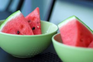 Watermelon in bowls