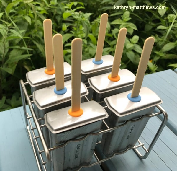 Homemade Mango Ginger Popsicles