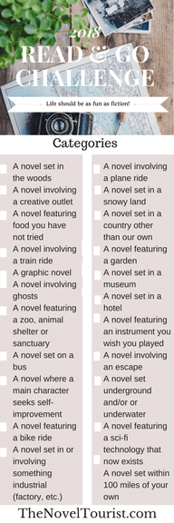 book mark with 23 reading challenge suggestions