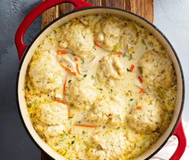 Homemade Chicken And Dumplings Recipe My Easy Chicken And Dumplings Recipe With Big Fluffy