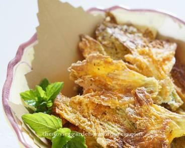 squash blossom chips