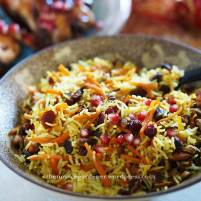 persian jeweled rice with pomegranate