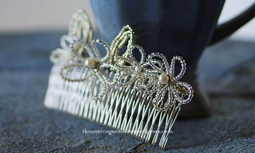 handmade bridal hair comb