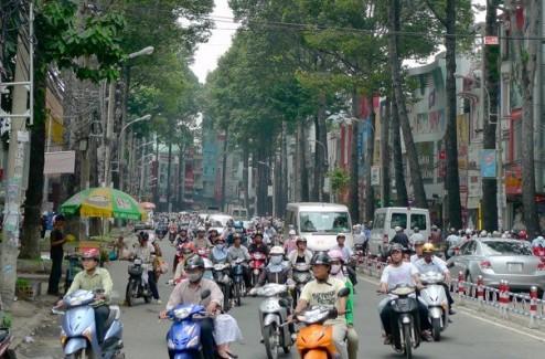 Traffice in Saigon