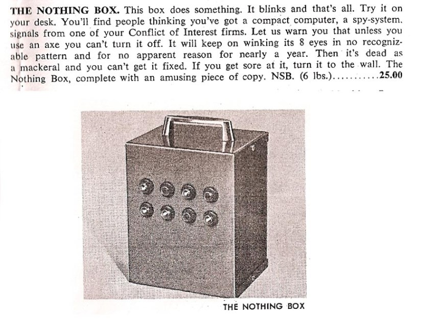 """Nothing Box"" AD"