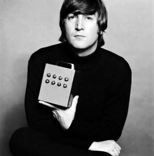 "John with ""Nothing Box"" 1965"