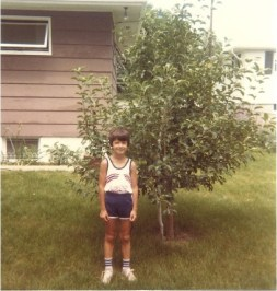 mick in front of his apple tree in 1982