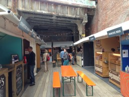 outdoor seating at urbanspace meatpacking